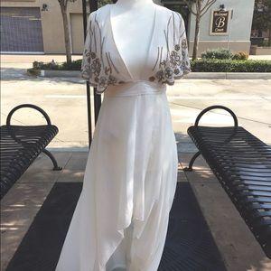New Nasty gal Artemis embellished cape dress